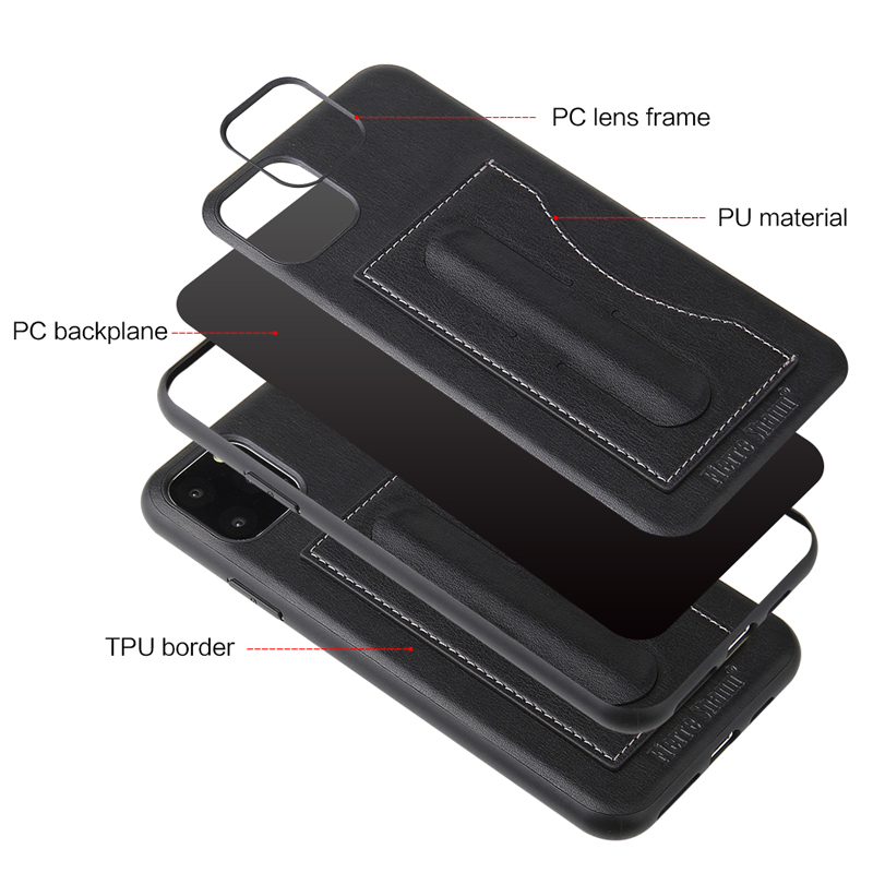 Fashion Faux Leather Card Holder Case for iPhone 11/11 Pro/11 Pro Max 35