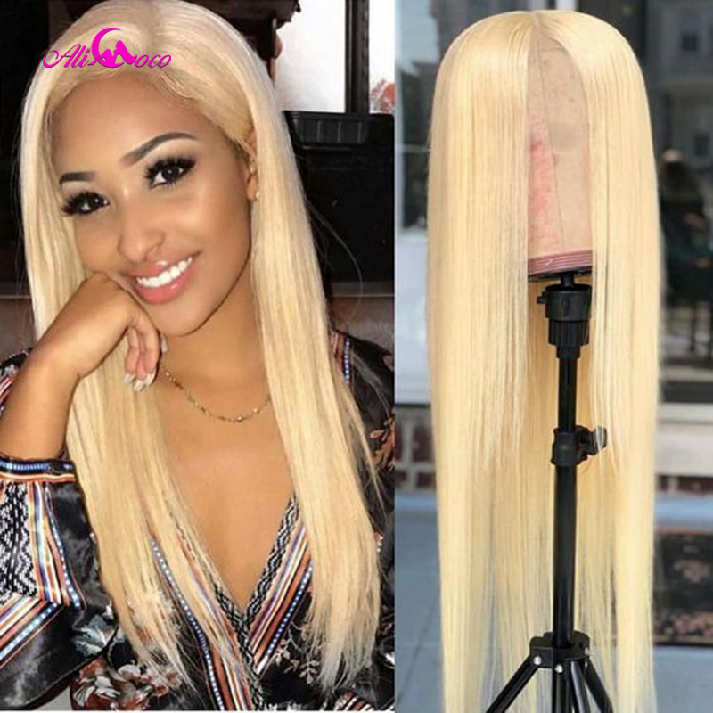 613 Honey Blonde Lace Front Wigs Pre Plucked With Baby Hair Straight Lace Front Human Hair Wigs 13x4 Transparent Lace Front Wigs