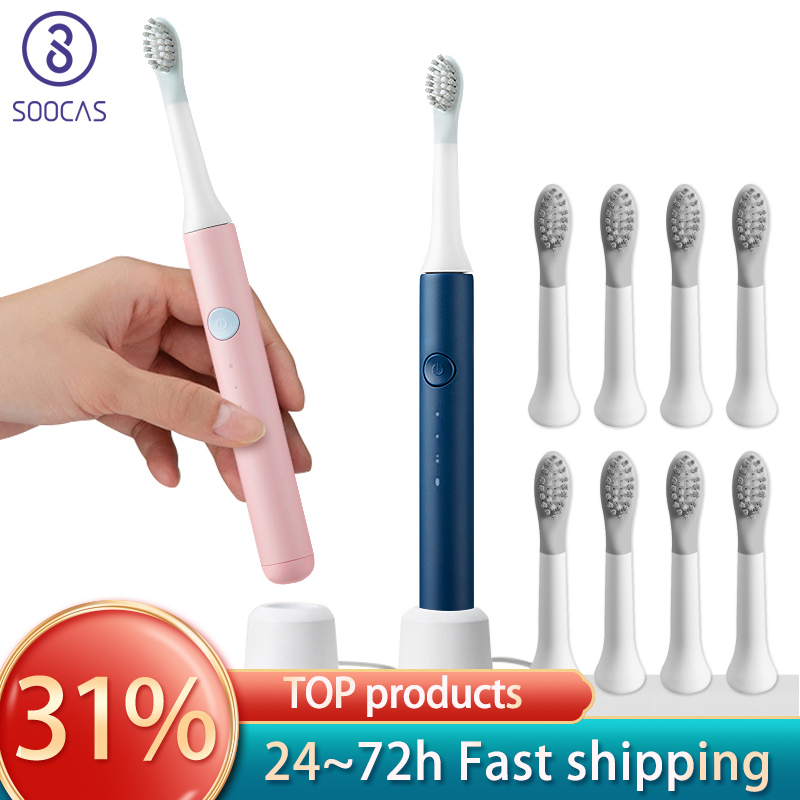 SOOCAS Sonic Electric Toothbrush PINJING EX3 Waterproof Inductive Charging Clean Ultrasonic Smart Toothbrush Child Gifts