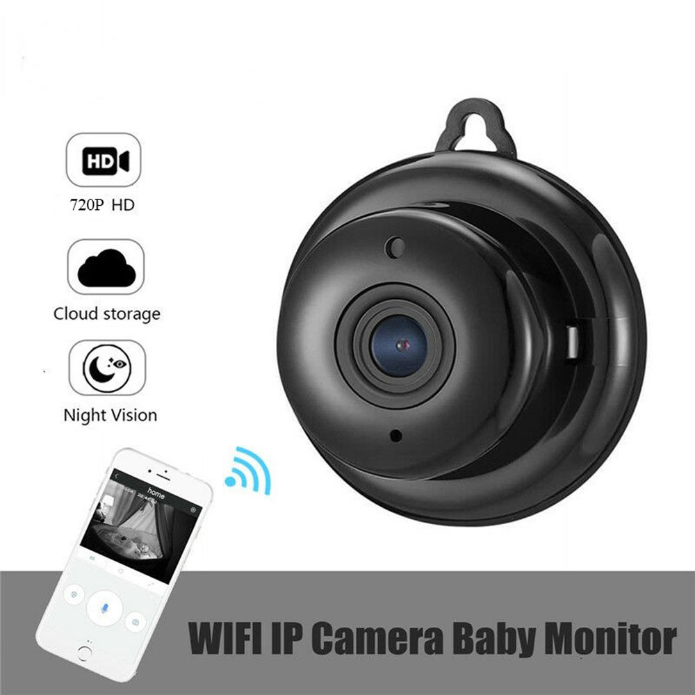 Mini Wifi IP Camera Wireless CCTV Infrared Night Vision Motion Detection Baby Monitor 2-Way Audio Smart Home Security Camera