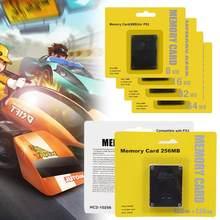 Cartão de memória 8/16/32/64/128/256mb megabyte para sony ps2 playstation 2 jogo magro console de dados