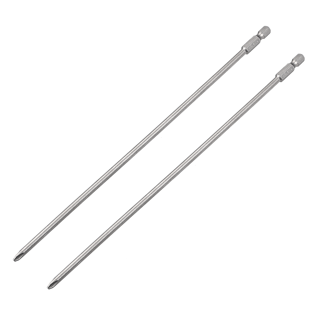Uxcell 2pcs 1/4-Inch Hex Shank 250mm Length Phillips 5PH2 Magnetic Screw Driver S2 Screwdriver Bits