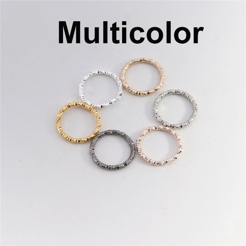 50-100pcs Silver Plated Round Jump Rings Twisted Open Split Rings jump rings Connector For Jewelry Makings Findings Supplies DIY