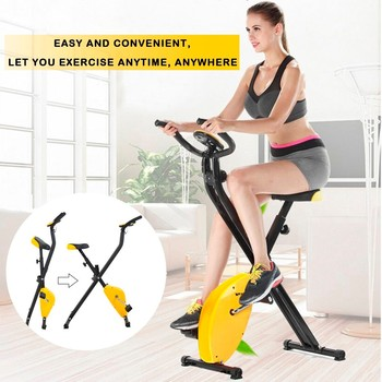 Bicicleta estática plegable de Spinning para el hogar silencioso, equipo de gimnasio magnético, máquina estacionaria de Fitness