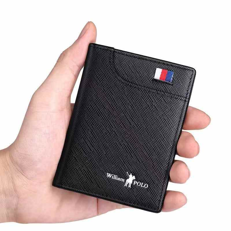Men's Wallets Men's Wallets Thin Male Wallet Card Holder Cowskin Soft Mini Purses New Design Vintage Men Short Slim Wallet