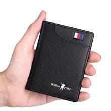 Carteiras masculinas carteiras masculinas fino masculino carteira titular do cartão cowskin macio mini bolsas novo design vintage curto fino carteira