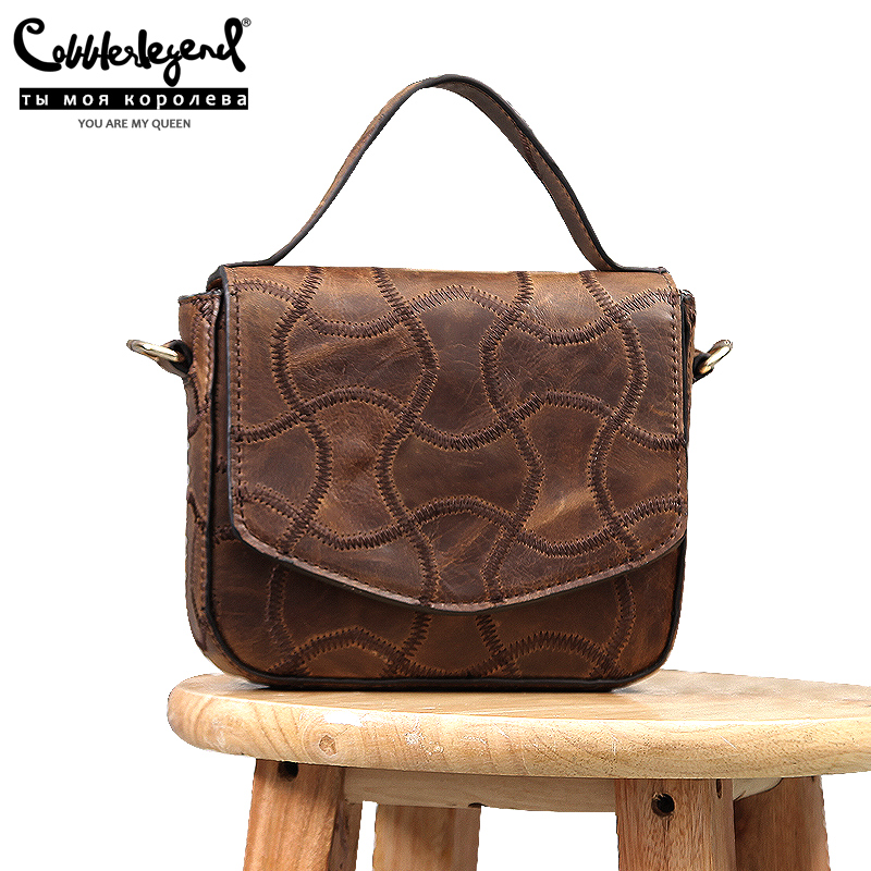 Cobbler Legend 2020 New Genuine Leather Designer Shoulder Crossbody Bag Women Mini Handbag Lizard Pattern Ladies Small Tote