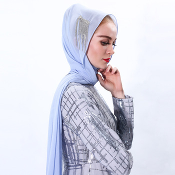 2020 Muslim Hat For Women Chiffon Under Scarf Hats Inner Hijab Caps Scarf Shawl Head Turban Islamic Arab Bandana Ninja Beanie 70 180cm solid color chiffon female wrapped scarf arab turkish inner hijab muslim lady shawl turban islam headscarf for women