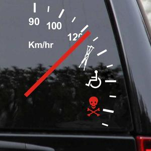 Image 2 - SLIVERYSEA Funny Safety Warning Speeder Car Vinyl Bumper Car Sticker and Decal PVC