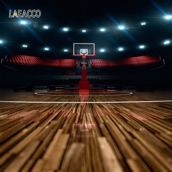 Laeacco Basketball Field Stadium Spotlight Sportman Photography Backdrops Photographic Backgrounds Child Baby Birthday Photozone image