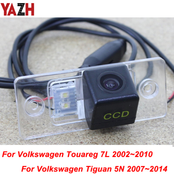 YAZH For Volkswagen VW Tiguan Touareg 2002~2014 GPS multimedia Radio HD Auto Night Vision Backup Camera Car Rear View Camera image