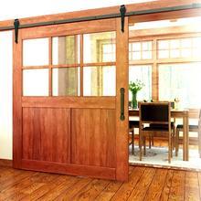 6FT современные раздвижные двери сарая шкаф фурнитура для раздвижных дверей комплект трек система блок для одного деревянного Doo