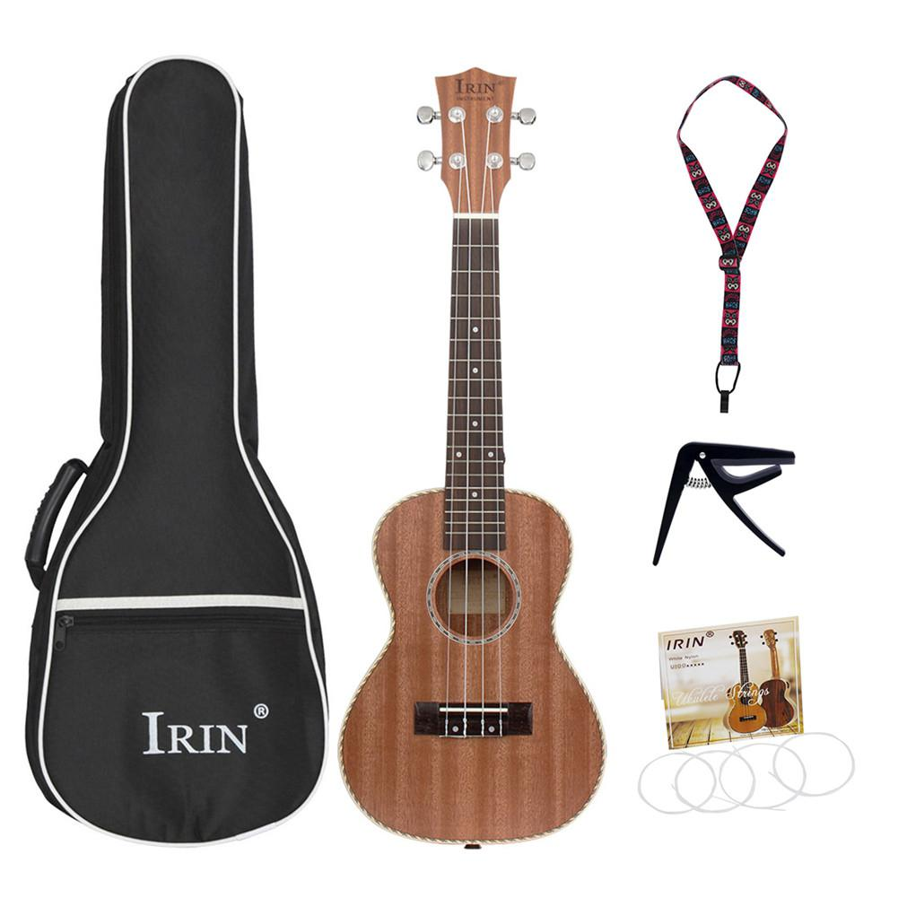 2019 nouveauté 23 pouces professionnel Sapele Soprano ukulélé Hawaii guitare bois ukulélé Instruments de musique pour débutant cadeau