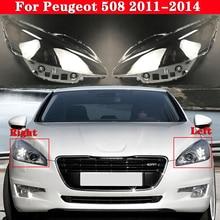 Car Front Headlight Cover Headlamp Lampshade Lampcover For Peugeot 508 2011-2014 Head Lamp light Covers glass Lens Shell Caps
