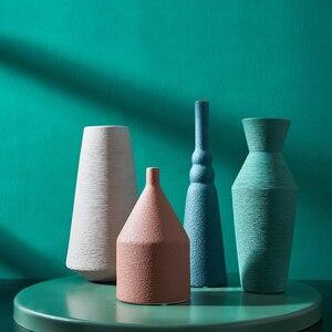 Стеклянная ваза Jarrones Decorativos, для украшения свадеб, Цветочная ваза для домашнего декора, керамическая ваза