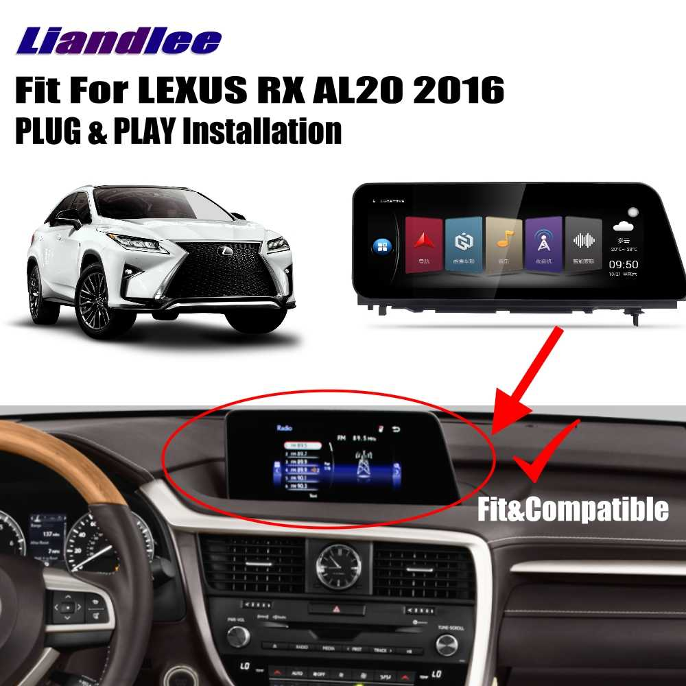 Liandlee dla LEXUS RX AL20 2016 ~ 2018 radio samochodowe z androidem odtwarzacz nawigacja gps mapy kamera OBD ekran tv Multimedia bez cd DVD