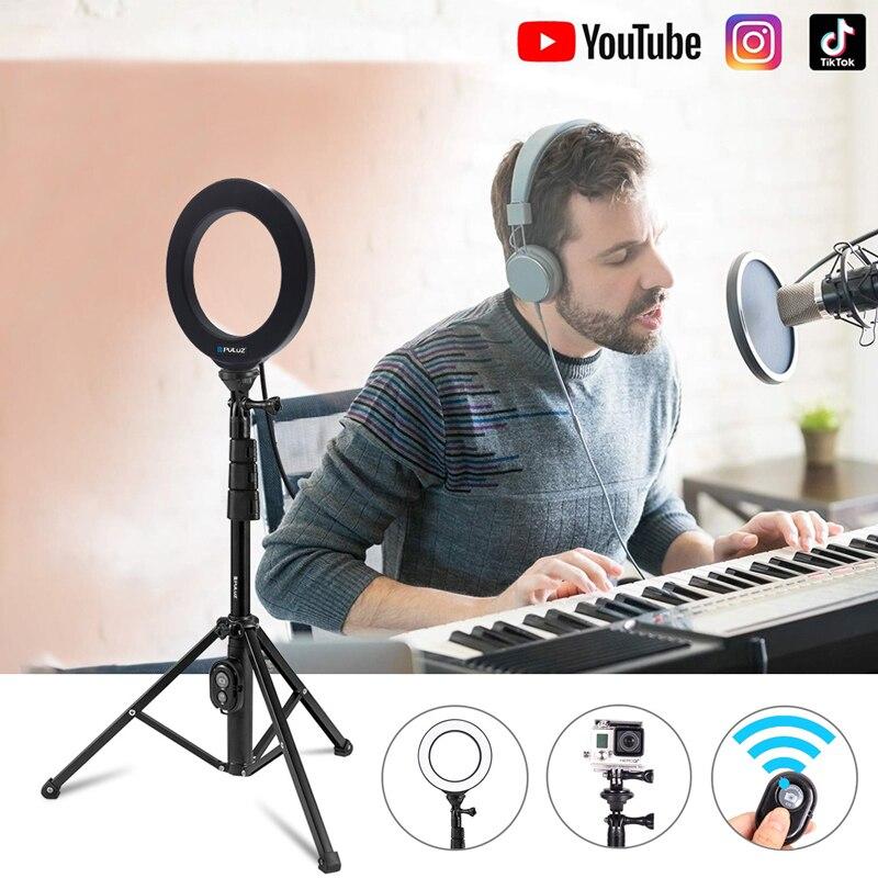 Clipe de Telefone Cabeça para Vlogging Bluetooth Remoto Selfie Vara Titular Bracket 1 – 4 Parafuso Frio Sapato Bola Vídeo Led Anel Luz Tripé
