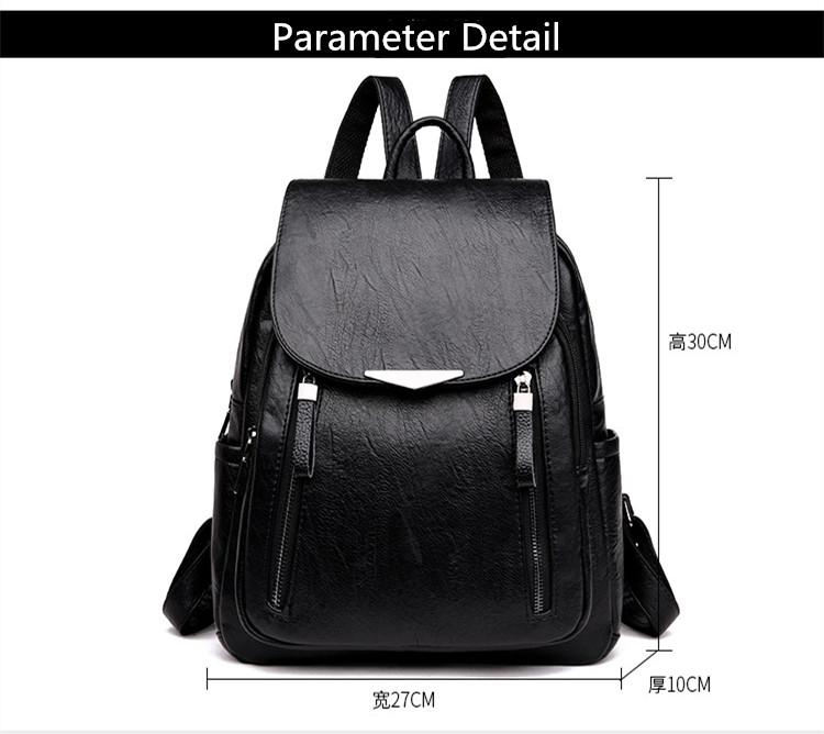 H8bd1ad3abf7241f3846ac534f9fa46b6t - Women Backpack PU Female backpacks Vintage Leather School Bags Large Capacity School Bag for Girls Double Zipper Shoulder Bags