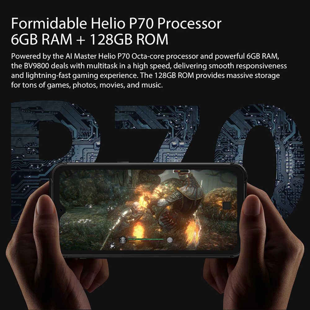 """Blackview BV9800 Helio P70 Android 9.0 6GB + 128GB Smartphone 48MP caméra arrière IP68 étanche 6580mAh 6.3 """"FHD téléphone portable"""