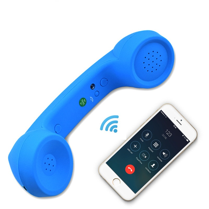 Wireless Retro Telephone Handset And Wire Radiation-proof Handset Receivers Headphones For A Mobile Phone With Comfortable Call