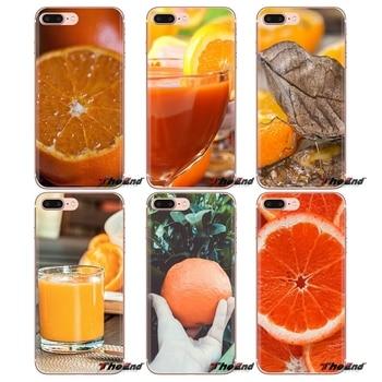 Fundas blandas transparentes cubre comida naranja para Xiaomi mi 4 mi 5 mi 5S mi 6 mi A1 A2 5X6X8 9 Lite SE Pro mi Max mi x 2 3 2 S