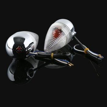 Motorcycle A Pair Clear Rear Turn Signal For YAMAHA XV1900 2006-2013 07 08 09 10 11 12 New