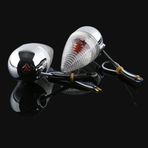 Motosiklet bir çift şeffaf arka dönüş sinyali YAMAHA XV1900 2006 2013 07 08 09 10 11 12 yeni title=