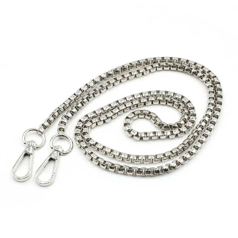 DIY Replacement Chain Strap Handbag Chains Purse Shoulder Crossbody Straps with Metal Buckles Accessories