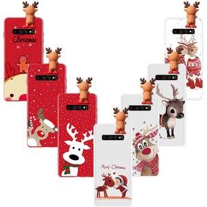 Kerst Herten Tpu Case Voor Samsung Galaxy A30 A20 A10 A20e A70 A60 A50 A40 S10 S9 S8 S7 Rand s6 A6 A7 A8 A9 Plus 2018 2017 Case
