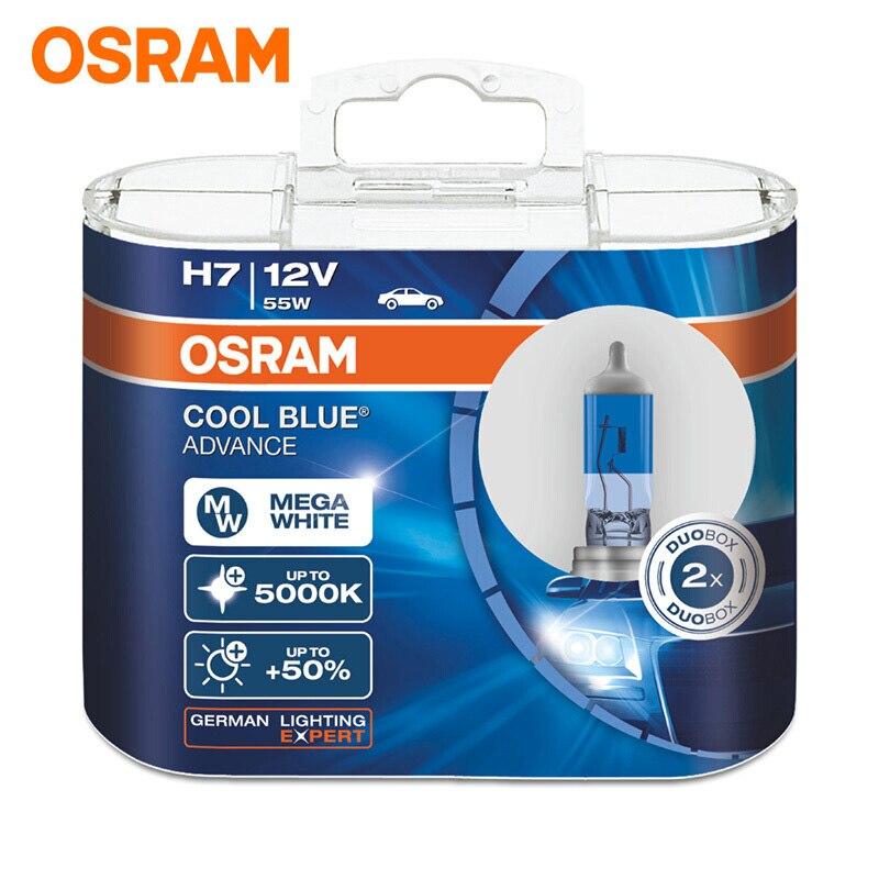 OSRAM Car Headlight Bulb 5000K Headlight 50% More Bright Halogen Lamps H1 H3 H4/9003 H7 H9 H11 9005/HB3 9006/HB4 Lamp Cool Blue