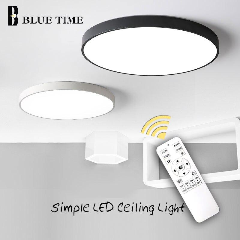 Lámpara LED moderna para sala de estar, dormitorio, lámpara de iluminación de Techo redonda, lámpara de Techo, lámparas blancas y negras