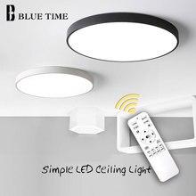 מודרני LED נברשת לסלון חדר שינה זוהר עגול תקרת נברשת תאורה קבועה Lampara Techo שחור & לבן מנורות