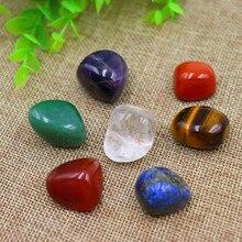 Набор из 7 камней-чакр в тканевом пакете-восстанавливающие кристаллы рейки для лечения, медитации, баланса чакр или ритуалов