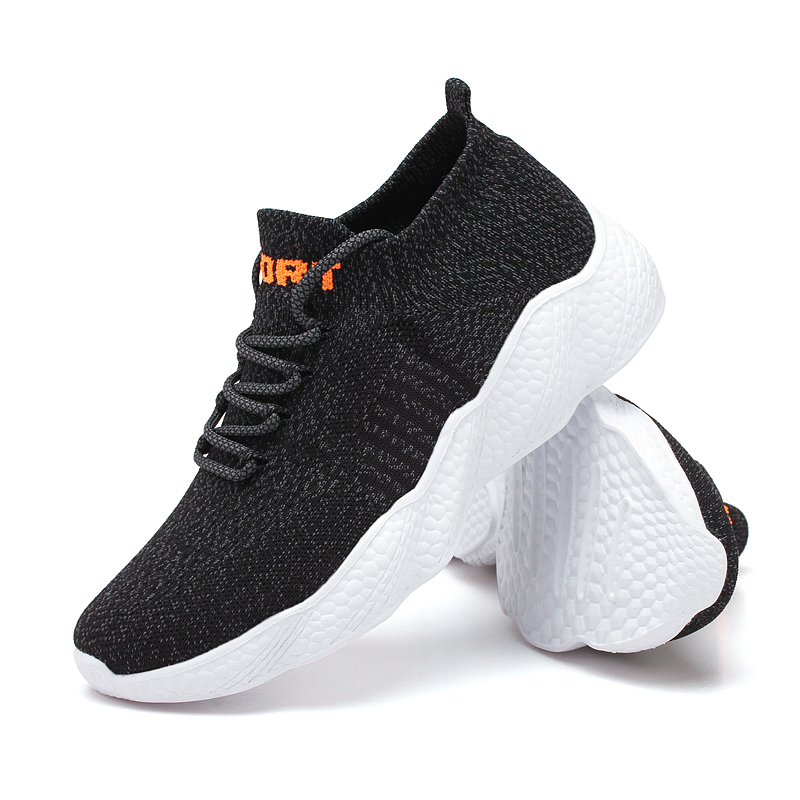 2020 Men's Casual Shoes Lace-up Sock Sneakers Lightweight Comfortable Breathable Outdoor Jogging Walking Sneakers Tenis
