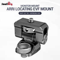 SmallRig Swivel 170 Degree & Tilt 360 Degree Monitor Mount with Arri Locating Pins Microphone Bracket Camera EVF Mount BSE2348
