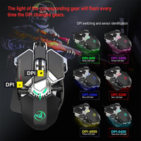 Ergonomic Wired Gaming Mouse For LOL CS 9 Button 6400DPI LED USB Computer Mouse Gamer Mice For PC Laptops Silent Mause Supplier