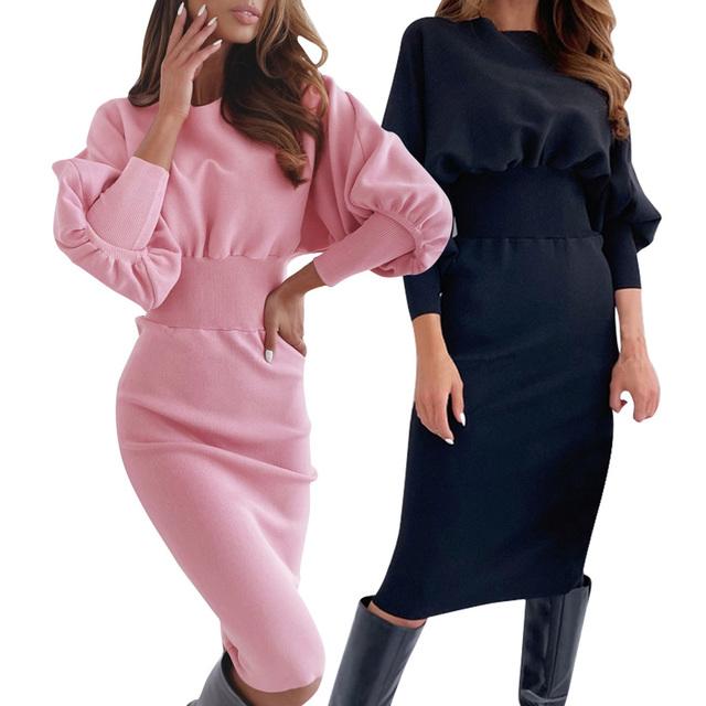 Bodycon Ladies Midi Dress