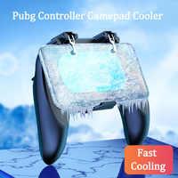 Controlador de congelación pubg enfriador de gamepad para teléfono móvil tirador de juegos para iphone android L1R1 controlador pubg con ventilador