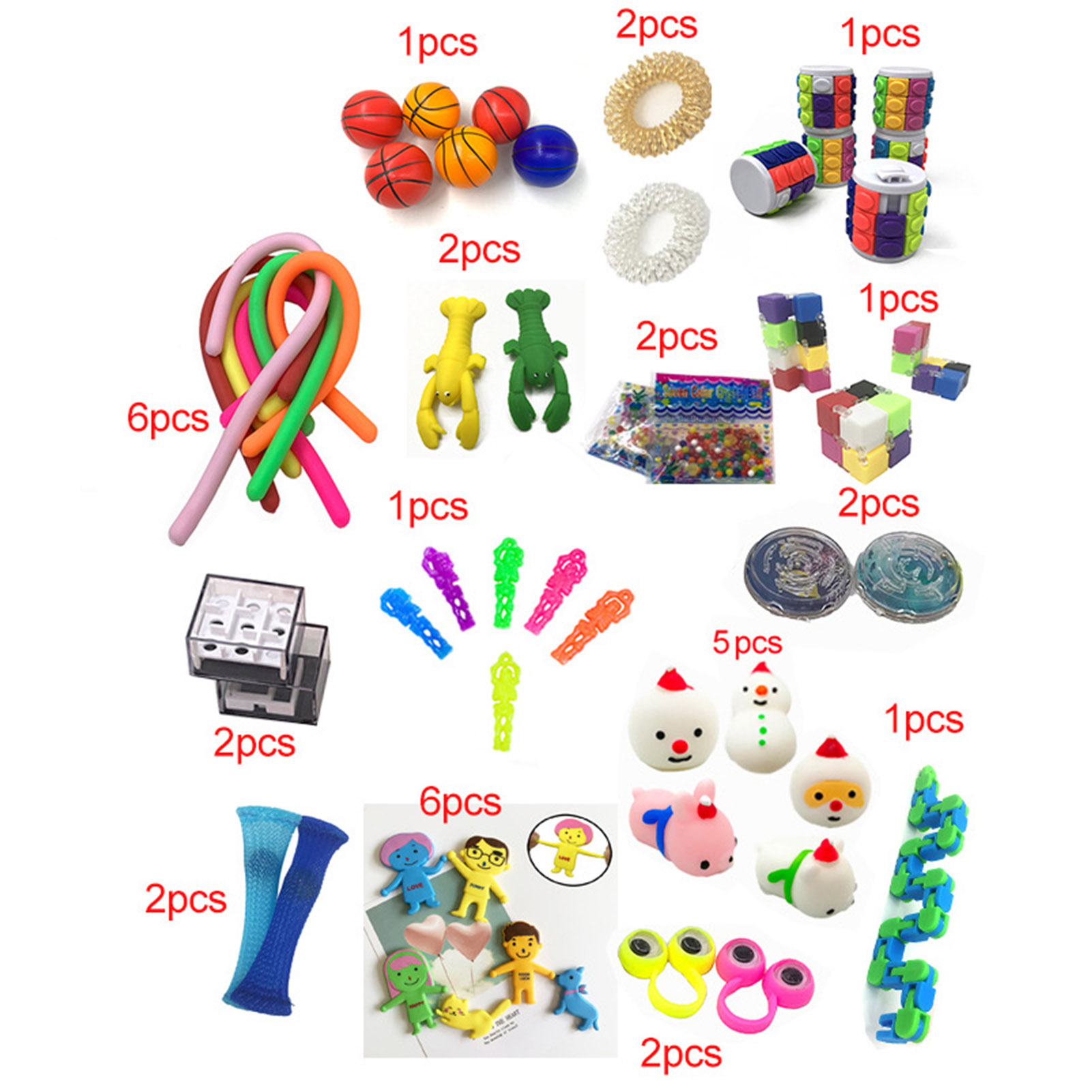 10/50Pcs Pack Sensory Fidget Toy Set Stress Relief Toys Autism Anxiety Relief Stress img5