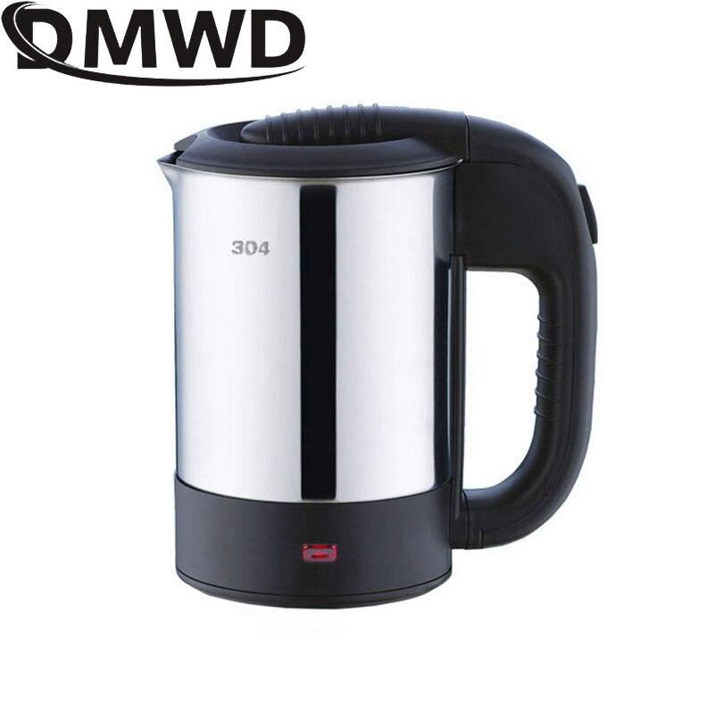 Дорожный Электрический чайник DMWD с двойным напряжением, мини-чайник, чашка, водонагреватель, портативный чайник из нержавеющей стали, бойле...