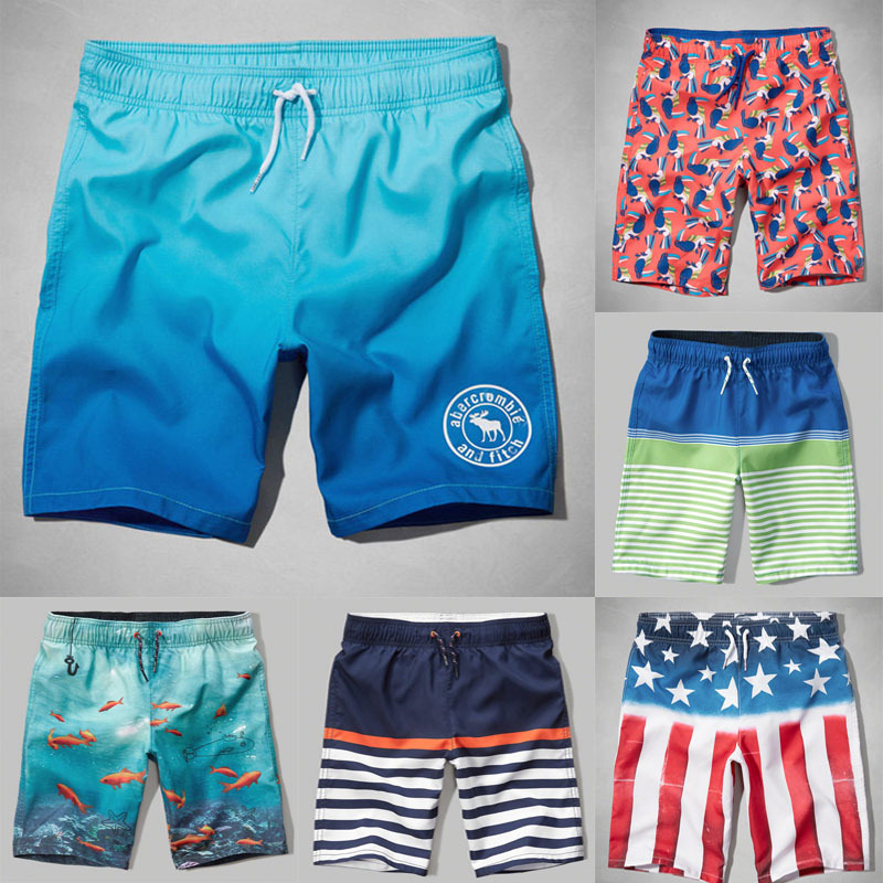 AF Beach Shorts Men's Summer Quick-Drying Loose-Fit Seaside HCO Surfing Swimming Trunks Travel Hot Springs Shorts Large Size Sho