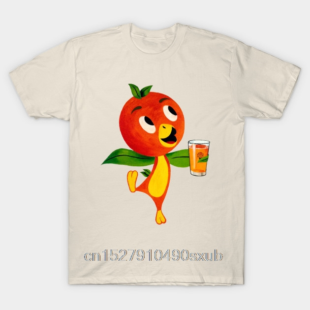 Top Men's T Shirt Florida Orange Bird Orange Juice Men's Casual Fashion Round Neck Cool  Man's T Shirt