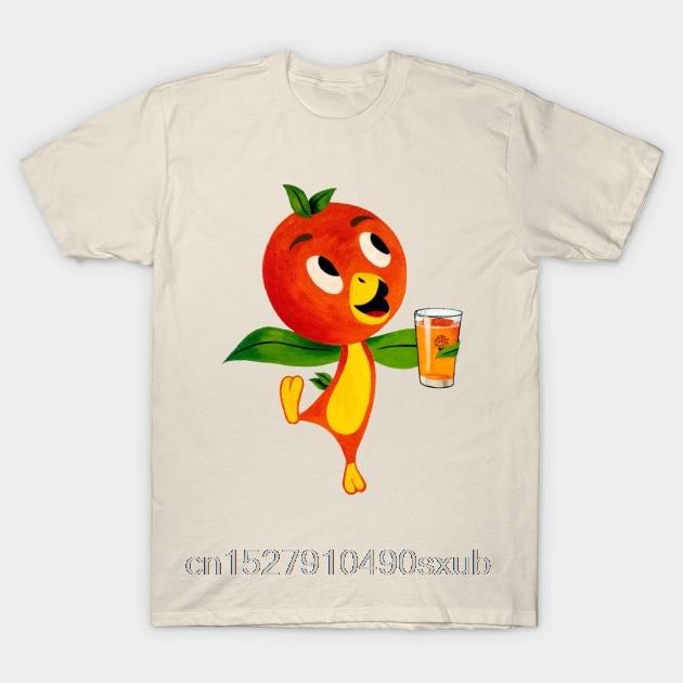 Top Men's T Shirt Florida Orange Bird Orange Juice Men's Casual Fashion Round Neck Cool  Man's T Shirt