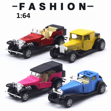 Vehicle-Toy Cars Gift Classic Children's 1:64-Alloy Car-Pull-Back Open-Door Christmas