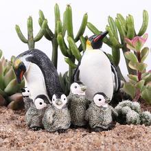 1Pcs Penguin Model Toys Antarctic Simulation Penguin Animal Model Figurine Doll Terrarium Bonsai Decor Toys For Kids