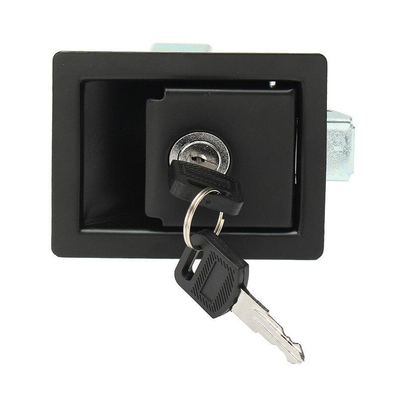 WOVELOT RV Cerradura de Puerta de Entrada de Paleta de CochePomo de la Manija del Pestillo Tipo de Tracci/óN de Camper-Remolque Cerradura de la Puerta del Panel