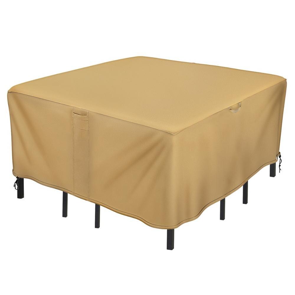 Sunkorto housse de Table de Patio rectangulaire/ovale/ronde, imperméable et résistant aux UV, 3 tailles au choix