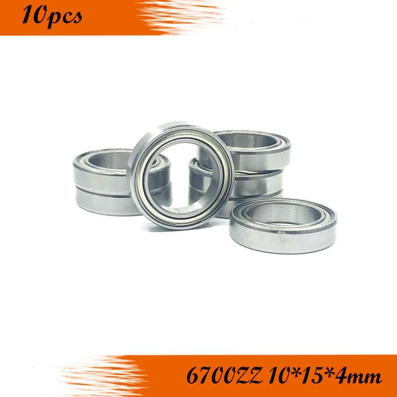 10pcs/Lot 6700ZZ 6700 ZZ 10x15x4mm Thin Wall Deep Groove Ball Bearing Mini Ball Bearing Miniature Bearing