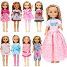 Vestido bonito de moda blusa camisa Tops falda Pantalones Casual ropa de uso diario accesorios para muñeca Nancy 16 pulgadas marionetas Juguetes De niña