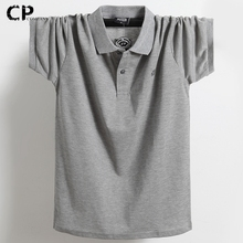 Tees Polo-Shirt Cotton Short-Sleeve Business Male Breathable Casual Mens Pure-Color 5XL